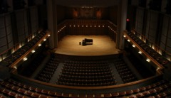 Sursa Hall showing the Steinway Grand at center stage. This spectacular photograph was taken by my former student, David French.